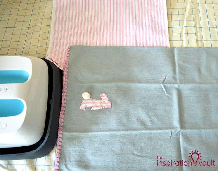 Easter Tea Towel Pillows Step 1a