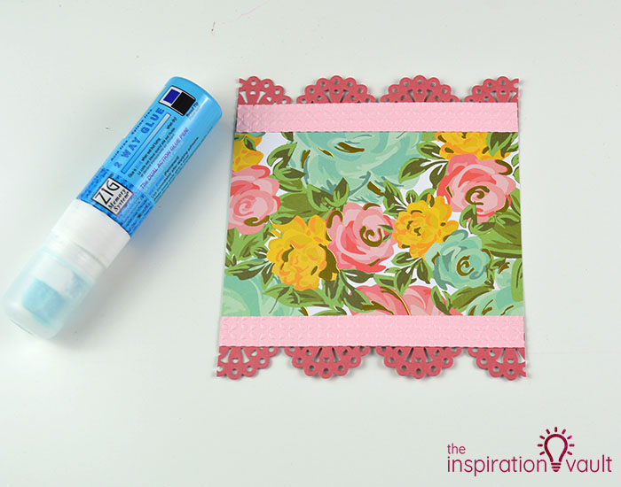 Handmade Embossed Mother's Day Card Assembly Step 1b