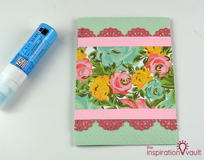 Handmade Embossed Mother's Day Card Assembly Step 2
