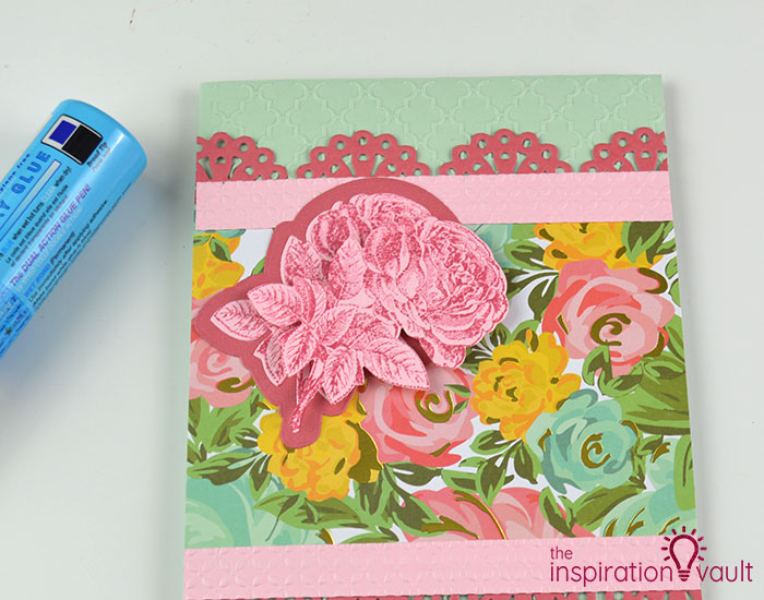 Handmade Embossed Mother's Day Card Assembly Step 3c