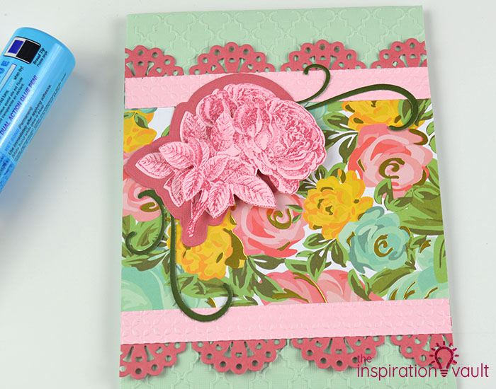 Handmade Embossed Mother's Day Card Assembly Step 4