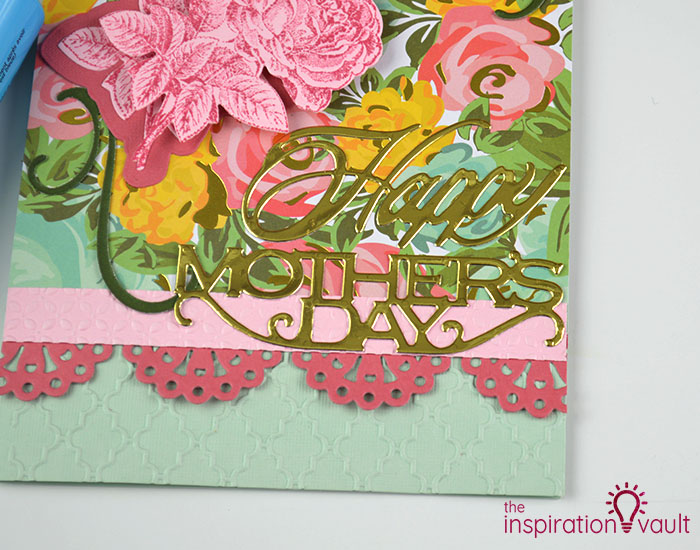 Handmade Embossed Mother's Day Card Assembly Step 5