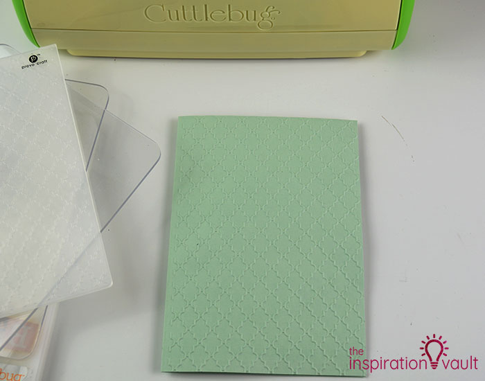 Handmade Embossed Mother's Day Card Cutting Step 1b