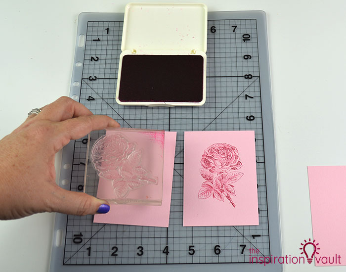 Handmade Embossed Mother's Day Card Cutting Step 5b