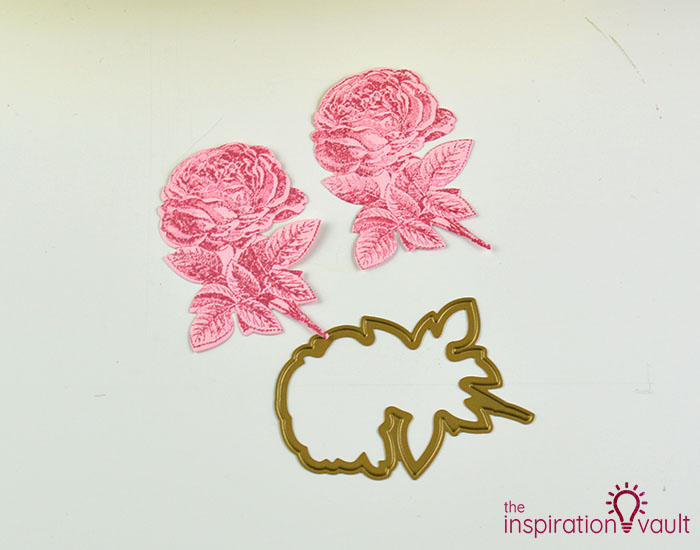 Handmade Embossed Mother's Day Card Cutting Step 5c