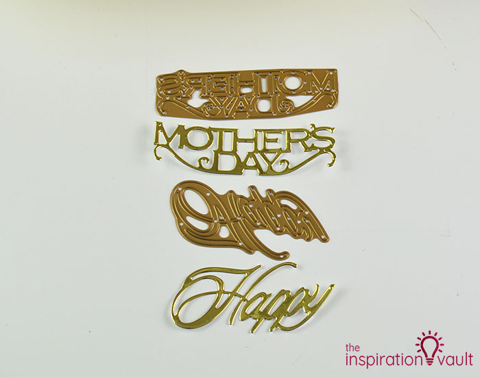 Handmade Embossed Mother's Day Card Cutting Step 7b