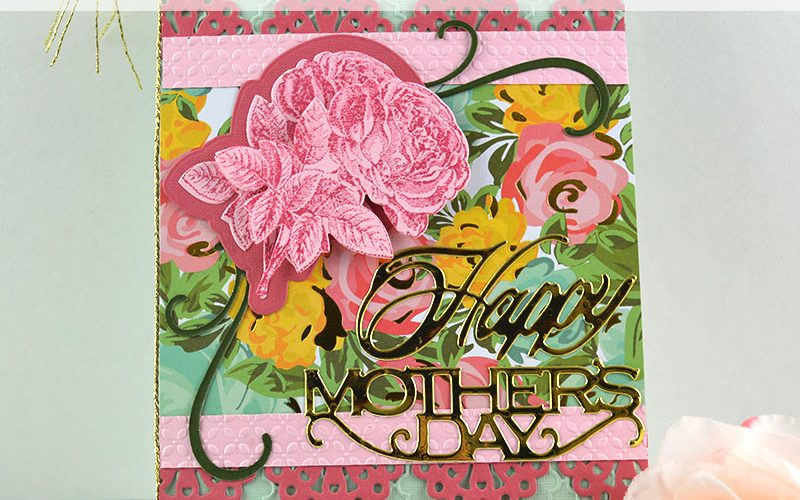 Handmade Embossed Mother's Day Card Feature
