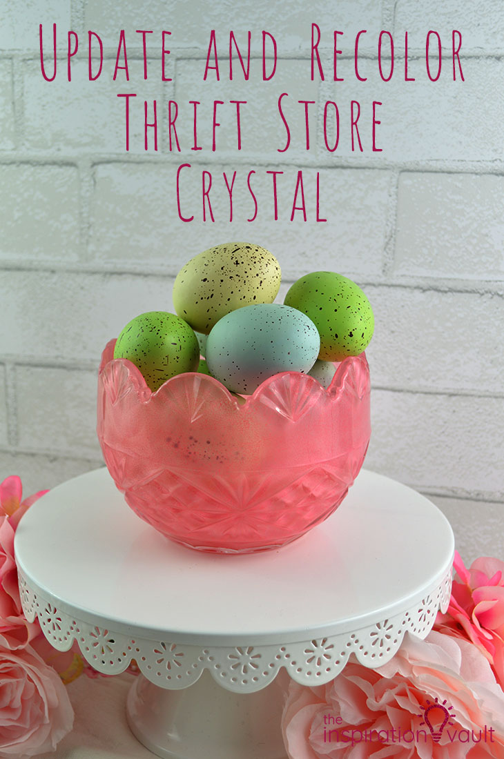 Update and Recolor Thrift Store Crystal DIY Glass Paint Craft Tutorial