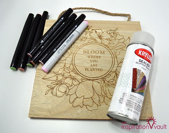 Color a Spring Floral Wood Sign Materials