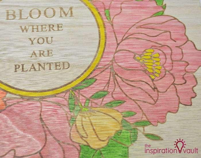 Color a Spring Floral Wood Sign Step 2d