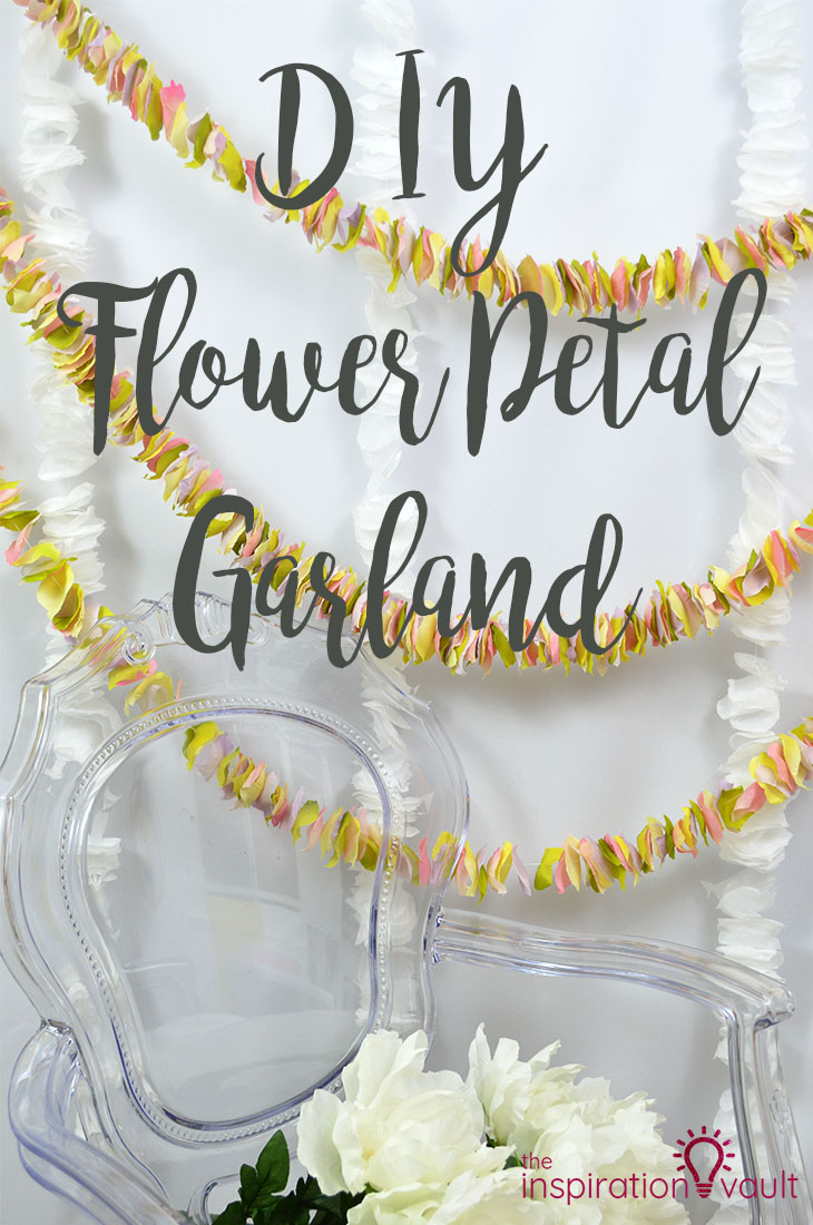 DIY Flower Petal Garland Craft Tutorial for Party Event Wedding Decorations