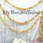 DIY Flower Petal Garland