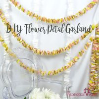 DIY Flower Petal Garland Feature