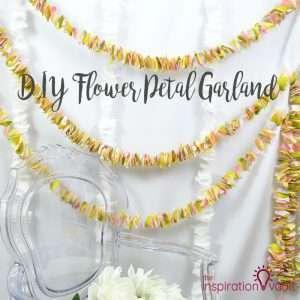 DIY Flower Petal Garland Feature