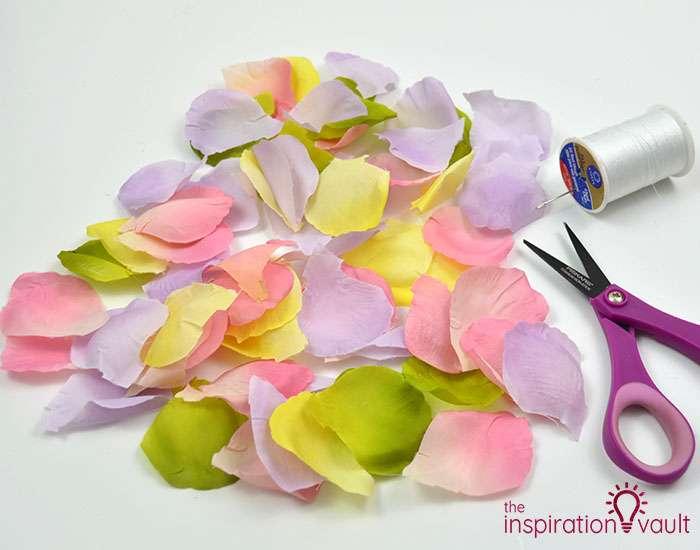 DIY Flower Petal Garland Materials