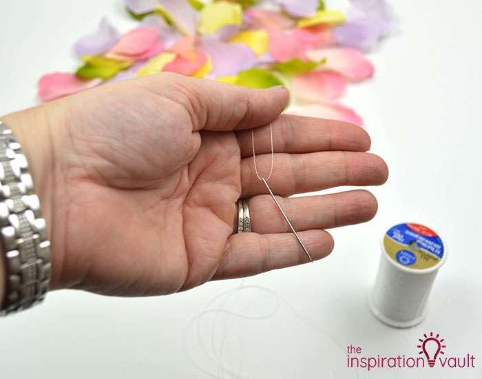 DIY Flower Petal Garland Step 1b