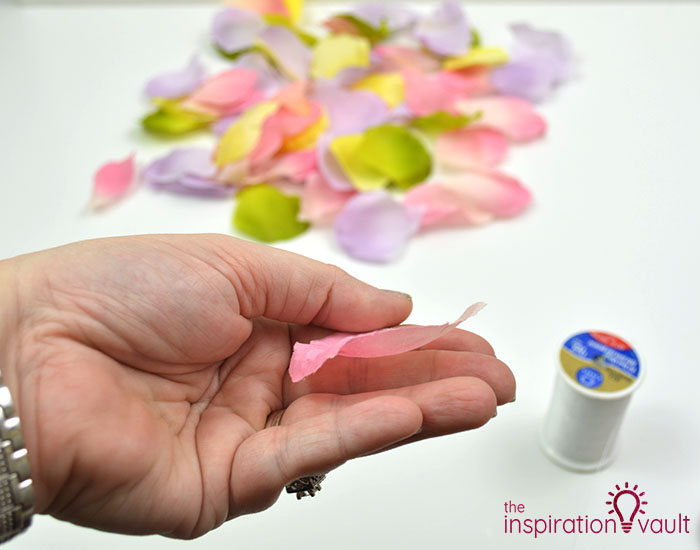 DIY Flower Petal Garland Step 2