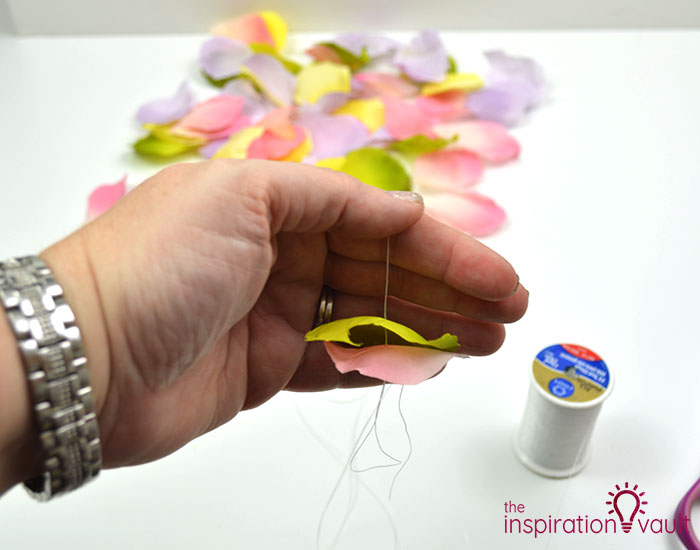 DIY Flower Petal Garland Step 4