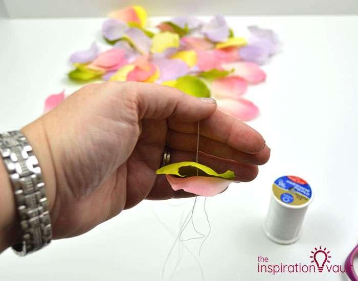 DIY Flower Petal Garland Step 4