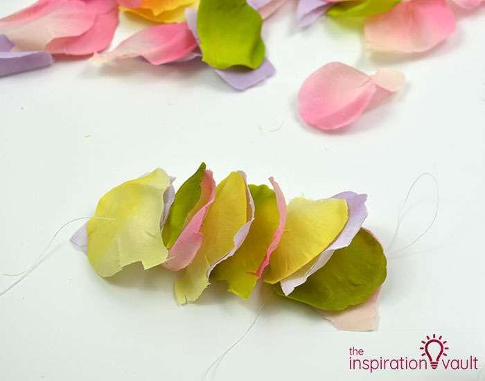 DIY Flower Petal Garland Step 5b