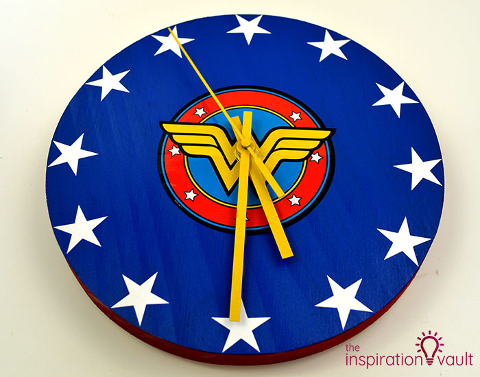 DIY Wonder Woman Superhero Clock Complete