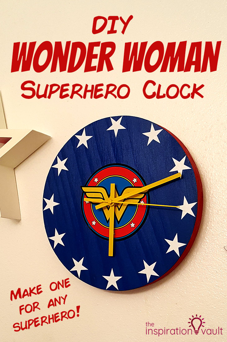 DIY Wonder Woman Superhero Clock Craft Tutorial