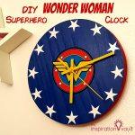 DIY Wonder Woman Superhero Clock