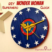 DIY Wonder Woman Superhero Clock Feature