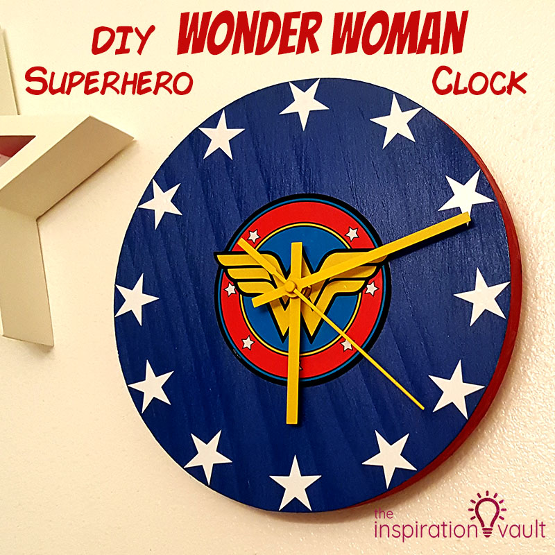 DIY Wonder Woman Superhero Clock Feature