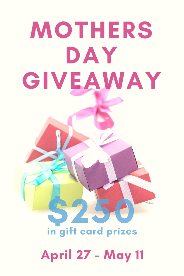 Win a $125 Gift Card with our Mother's Day Giveaway & Gift Guide! You don't even have to be a mom to win--sweet! #giveaway #mothersday #mothersdaygiveaway