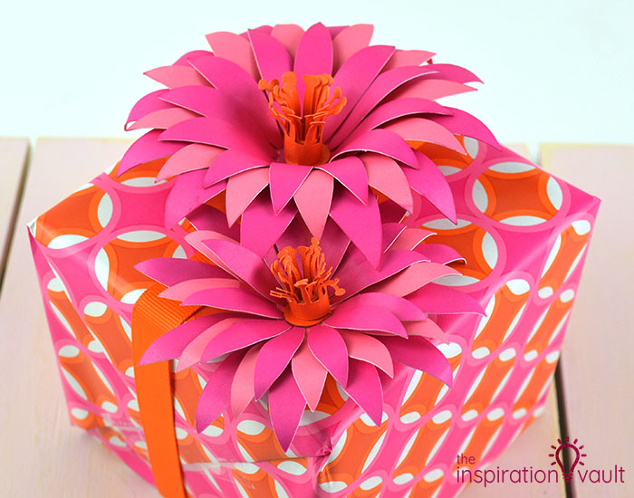 Paper Flower Gift Toppers Complete