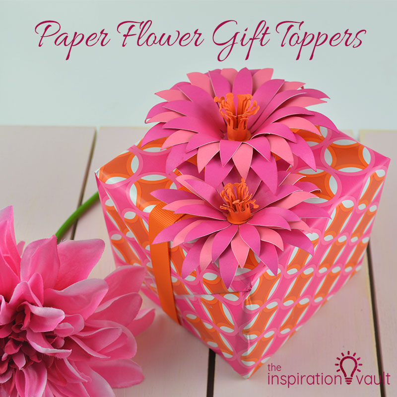 Paper Flower Gift Toppers Feature