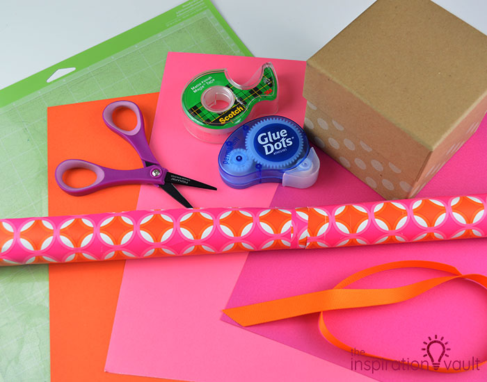 Paper Flower Gift Toppers Materials
