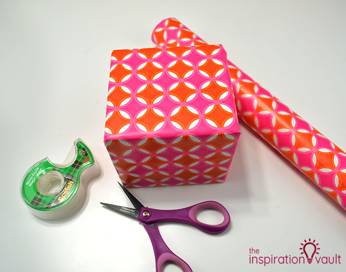 Paper Flower Gift Toppers Step 1