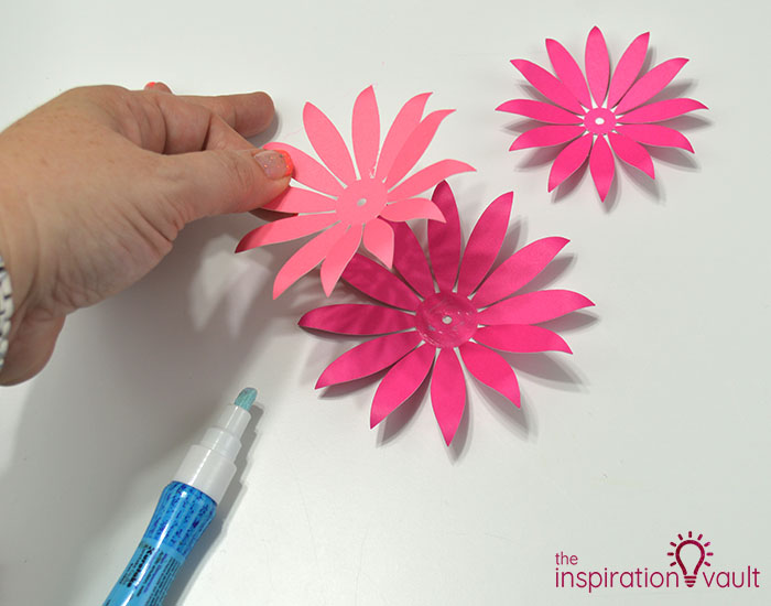 Paper Flower Gift Toppers Step 10a