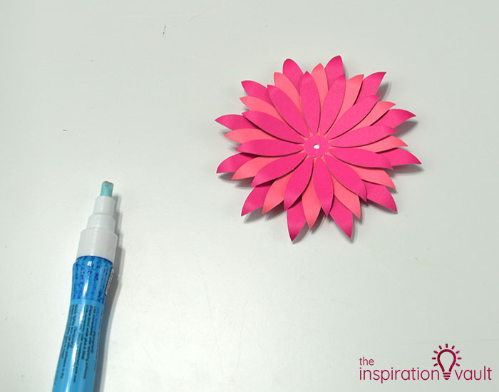 Paper Flower Gift Toppers Step 10b