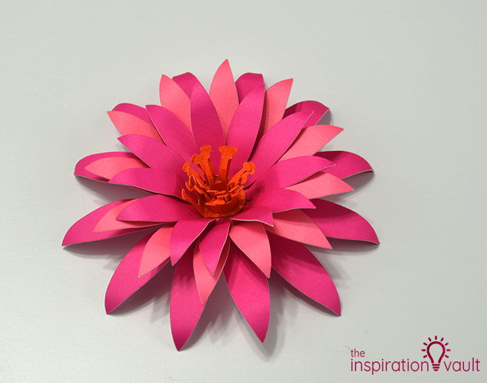 Paper Flower Gift Toppers Step 10c