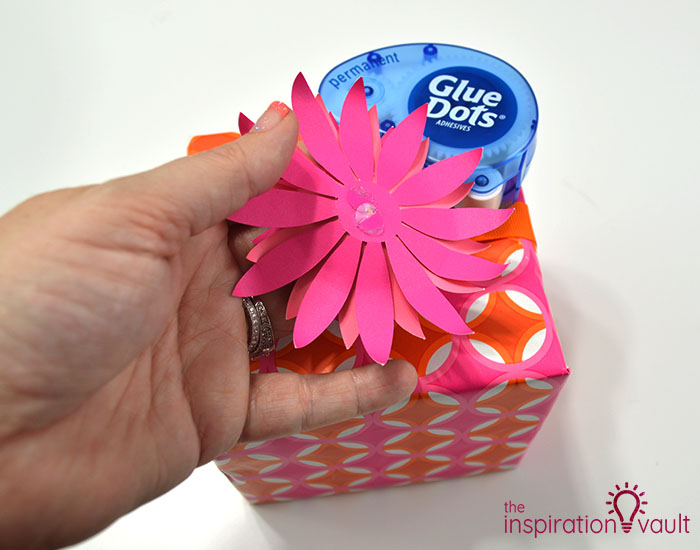 Paper Flower Gift Toppers Step 11