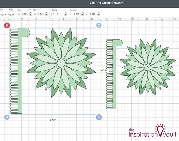 Paper Flower Gift Toppers Step 5