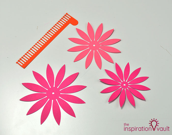 Paper Flower Gift Toppers Step 7