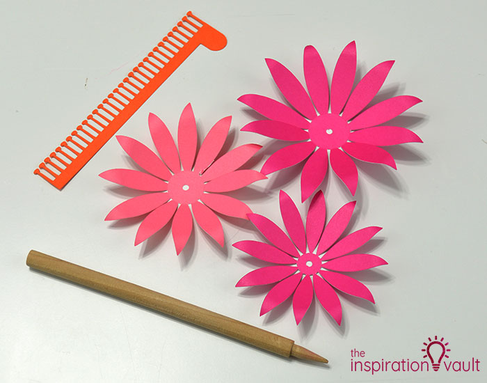 Paper Flower Gift Toppers Step 8c