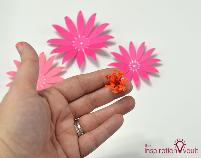 Paper Flower Gift Toppers Step 9c