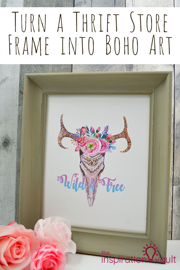 Turn a Thrift Store Frame into Boho Art DIY Craft Tutorial #bohoart #thriftstorefind #repurpose #upcycle