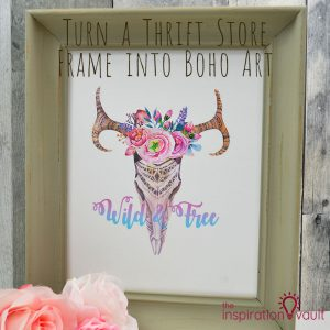 Thrift Store Frame into Boho Art Feature