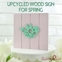 Upcycled Wood Sign for Spring Feature