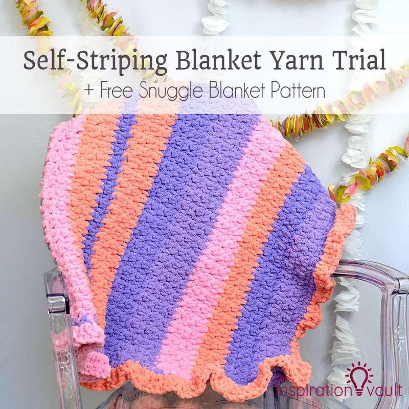 Self Striping Blanket Yarn Trial The Inspiration Vault