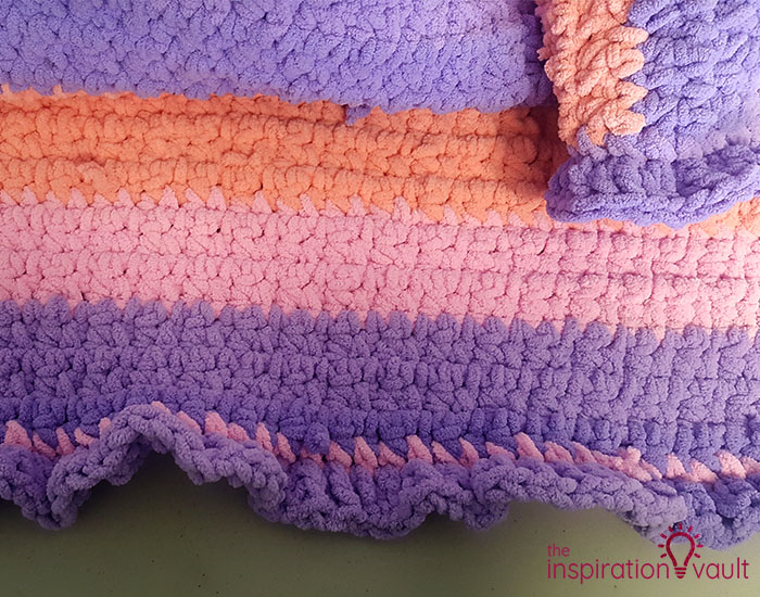 Self-Striping Blanket Yarn Step 10b