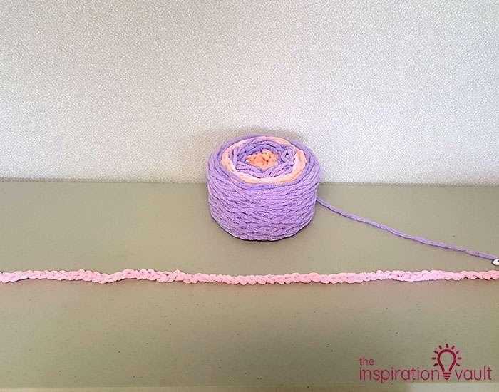 Self-Striping Blanket Yarn Step 2