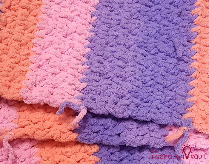 Self-Striping Blanket Yarn Step 5