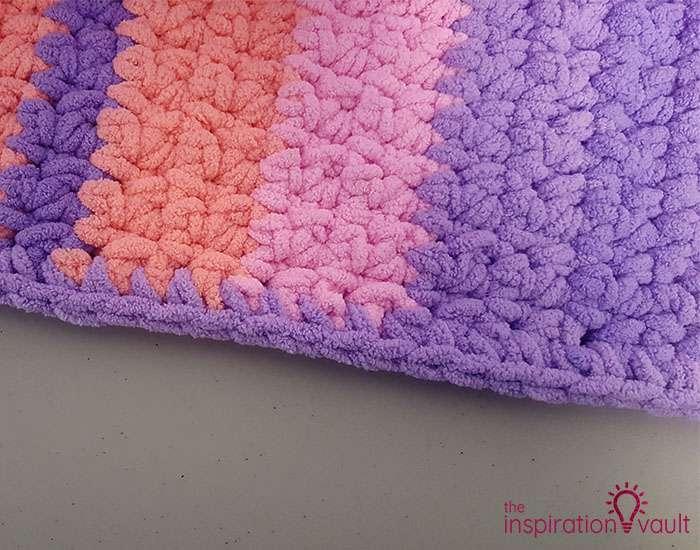 Self-Striping Blanket Yarn Step 9